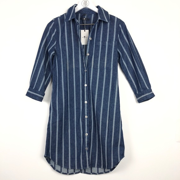 7 For All Mankind Dresses & Skirts - NWT 7 for all mankind strip denim dress
